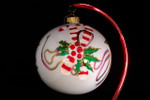 """Candy Canes, Ribbons & Hearts 12 Cm Bulb (Approx. 4 3/4"""")"""