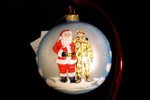 "Santa with Army Soldier 10 Cm (Approx. 4"")"