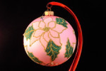 "Pink Poinsettia on Pink Bulb 12 Cm (Approx. 4 3/4"")"