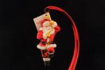 Santa Climbing A Rope