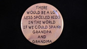 "There would be a lot less spoiled kids.. | 3 1/2"" Magnet"