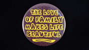 "The love of family makes life beautiful.. | 3 1/2"" Magnet"