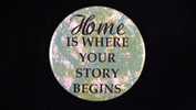 "Home is where your story begins | 3 1/2"" Magnet"