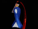 Colon Cancer Glass Ribbon Ornament - NEW 2019