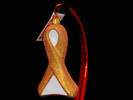 Kidney Cancer & Leukemia Glass Ribbon Ornament - NEW 2019