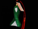 Liver Cancer Glass Ribbon Ornament - NEW 2019