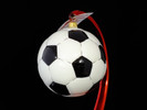 Soccer Ball Glass Ornament