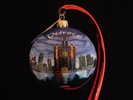Detroit Skyline Glass Bulb w/Copyrighted Acronym on the Backside