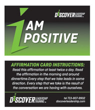 I AM POSITIVE Affirmation Card
