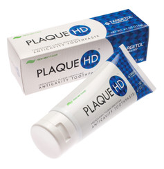 Plaque HD® is FDA-registered fluoride Plaque-Identifying Gluten-free toothpaste which has a built-in disclosing agent. When you brush your teeth with Plaque HD®, it turns the plaque on your teeth green. Just keep brushing the areas where you see the green until it disappears - then you will know that you have gotten all traces of plaque off your teeth!
