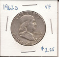 Franklin Half Dollar 1962d VF