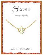Skosh Open Fleur-De-Lis Necklace- Gold Plated