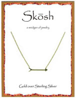 Skosh Pointing Arrow Necklace- Gold Plated