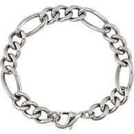 Stainless Steel 12MM Figaro Chain- 24""