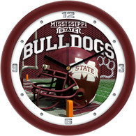 Football Helmet Wall Clock- Miss State