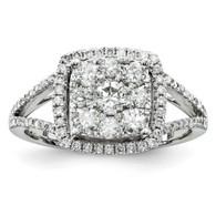 14K White-Gold Diamond Fashion Ring
