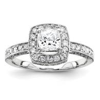 14k WhiteGold Semi-Mount Diamond Engagement Ring