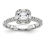 14k White-Gold Diamond Semi-mount Engagement Ring