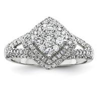 14K White-Gold Diamond Fashion Ring*