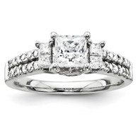 14k White-Gold Semi-Mount Diamond Engagement Ring