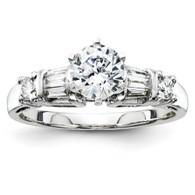 14k White-Gold Semi Mount Diamond Engagement Ring.