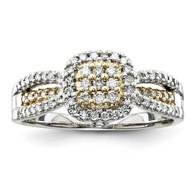 14k Two-tone Diamond Ring.