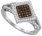 0.33CTW COGNAC DIAMOND FASHION RING