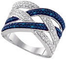 0.10CTW BLUE DIAMOND FASHION RING