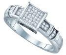 0.12CTW DIAMOND MICRO PAVE RING