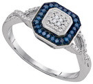 0.11CTW BLUE DIAMOND FASHION RING