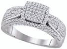 0.50 CTW DIAMOND FASHION RING