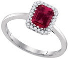 0.12CTW DIAMOND 1.08CT RUBY RING