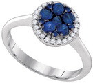 0.81CTW DIAMOND SAPPHIRE FASHION RING