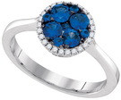 0.75CTW DIAMOND SAPPHIRE FASHION RING