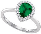 0.98CTW DIAMOND EMERALD FASHION RING