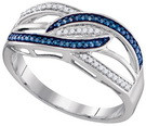 0.13CTW BLUE DIAMOND FASHION RING
