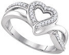 0.13 CTW DIAMOND FASHION RING
