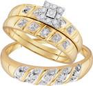 0.13 CTW DIAMOND FASHION TRIO-SET