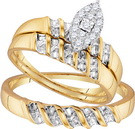 0.14CTW DIAMOND FASHION TRIO-SET