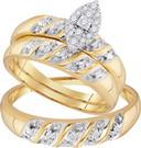 0.14 CTW DIAMOND FASHION TRIO-SET