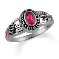 Ladies' Silver Select Tempo Class Ring