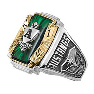Men's Siladium Two Tone Crestline Legacy High School Class Ring