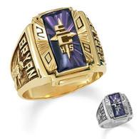 Men's 10K Gold Crestline Legacy High School Class Ring