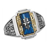 Ladies' Siladium Two Tone Crestline Heirloom High School Class Ring