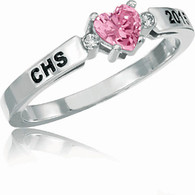 Ladies Siladium Beloved with CZ Class Ring