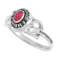 Ladies Silver Select Fashion Heartstrings Class Rings