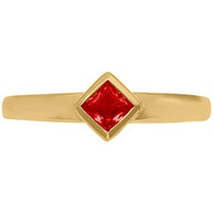 Ladies 10K Gold Contemporary Majestic Class Ring