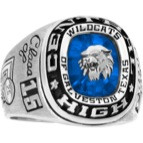 Mens Silver Select All American Athletic Class Ring