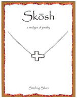 Skosh Open Sideways Cross Necklace