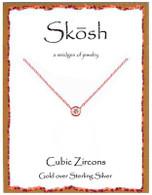 Skosh CZ Pendant - Gold Plated